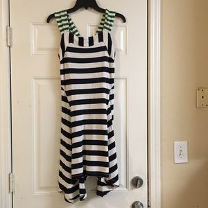HWR Anthropologie striped dress small